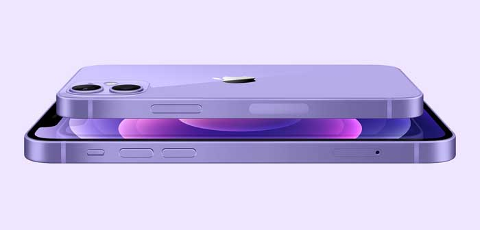 Mor renkli iPhone 12 ve iPhone 12 mini